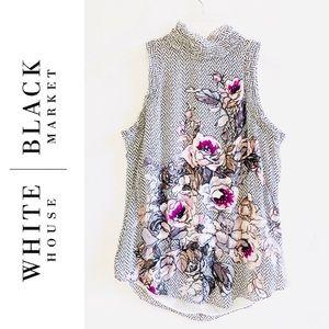 WHBM White House Black Matket Silk Sleeveless Top